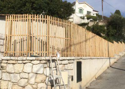 clôture ganivelle portail bois châtaignier Kastané #073