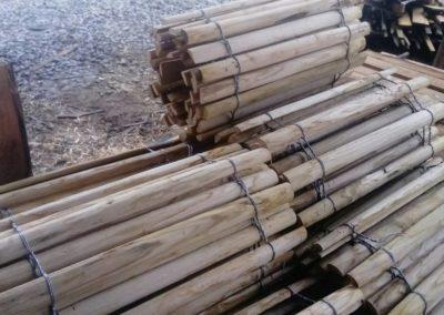 clôture ganivelle portail bois châtaignier Kastané #077
