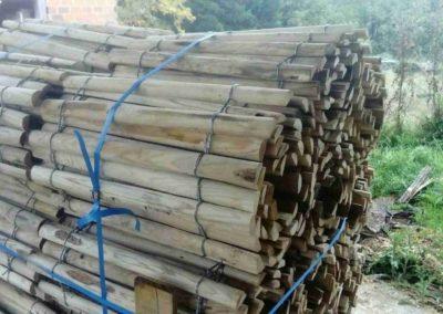clôture ganivelle portail bois châtaignier Kastané #076
