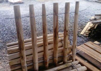 clôture ganivelle portail bois châtaignier Kastané #075