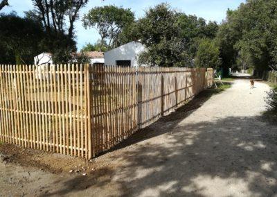 clôture ganivelle portail bois châtaignier Kastané #074