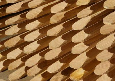 clôture ganivelle portail bois châtaignier Kastané #079