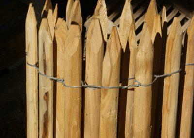 clôture ganivelle portail bois châtaignier Kastané #078