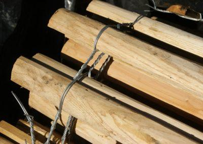 clôture ganivelle portail bois châtaignier Kastané #081