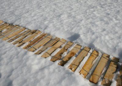 clôture ganivelle portail bois châtaignier Kastané #084