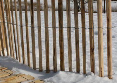 clôture ganivelle portail bois châtaignier Kastané #085