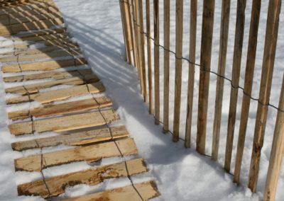 clôture ganivelle portail bois châtaignier Kastané #086