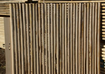 clôture ganivelle portail bois châtaignier Kastané #087