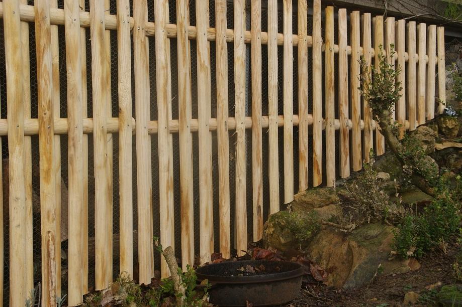 clôture ganivelle portail bois châtaignier Kastané #097