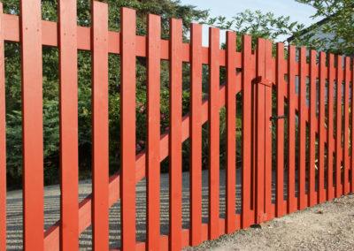 clôture ganivelle portail bois châtaignier Kastané #088