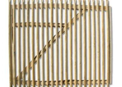clôture ganivelle portail bois châtaignier Kastané #001