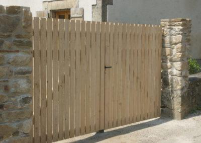 clôture ganivelle portail bois châtaignier Kastané #090