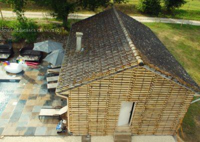 clôture ganivelle portail bois châtaignier Kastané #124