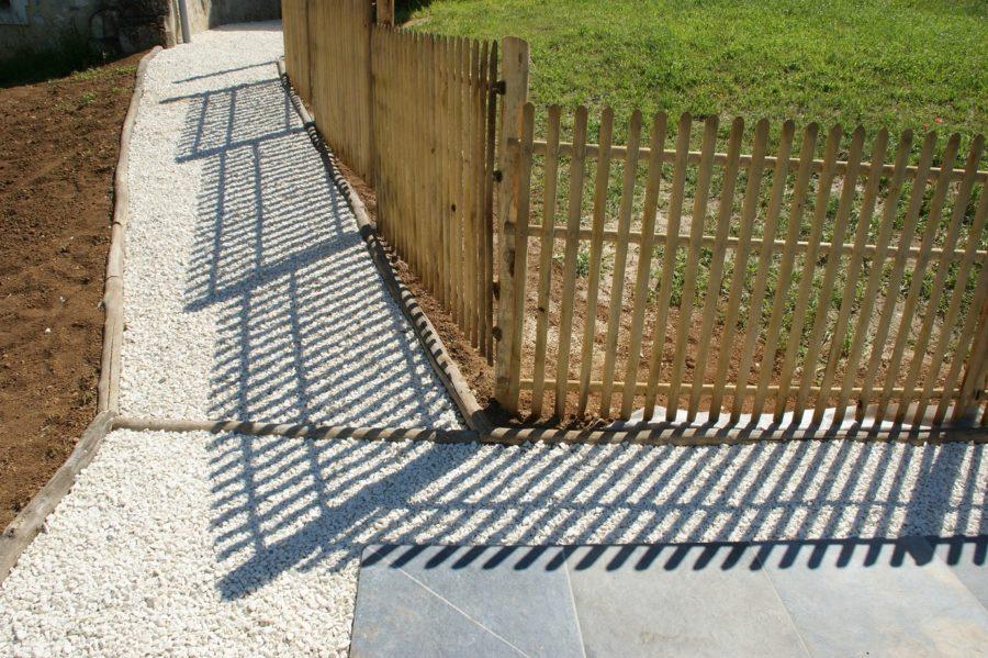 clôture ganivelle portail bois châtaignier Kastané #093