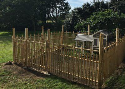 clôture ganivelle portail bois châtaignier Kastané #119