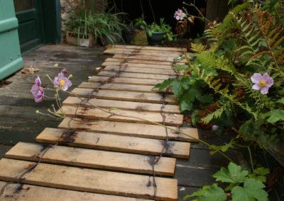 clôture ganivelle portail bois châtaignier Kastané #127