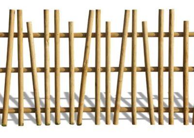 clôture ganivelle portail bois châtaignier Kastané #126