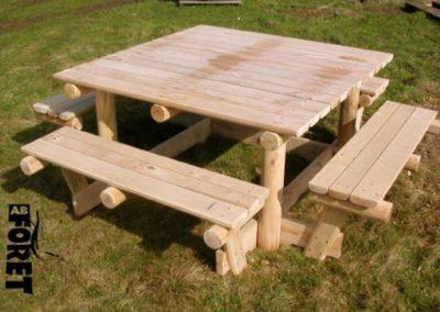 table jardin Kastané ABFORET châtaignier clôture bois