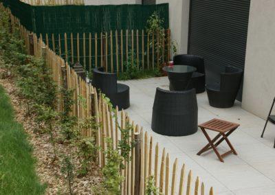 Kastané clôture ganivelle portail bois châtaignier